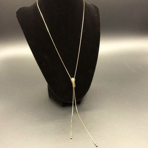 Stone necklace with zippers